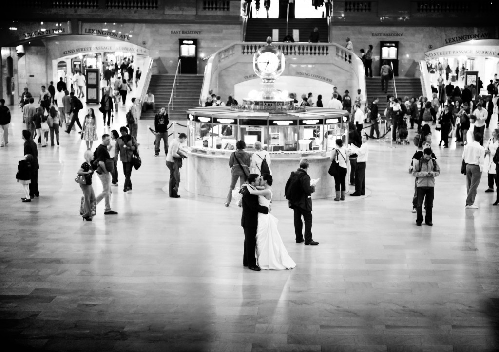 Our wedding day. Grand Central Station, NYC